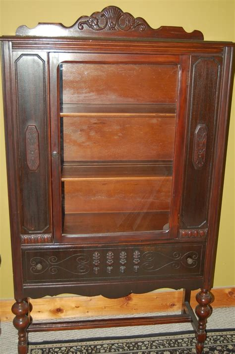 Antique China Cabinet Late 1800 39 S Wood Original Glass