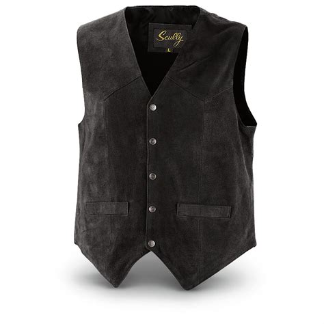 Cowhide Leather Vest by Scully S Cowhide Suede Vest 284915 Vests At