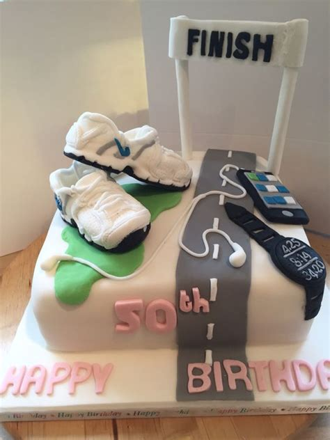 cool jogging themed cakes