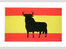 Spanien mit Stier Fahne kaufen 90 x 150 cm FlaggenPlatzde