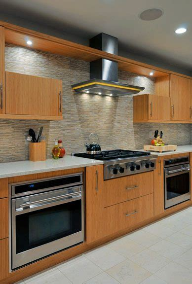 kitchen designs with built in ovens green kitchen design eco friendly bamboo kitchens 9353