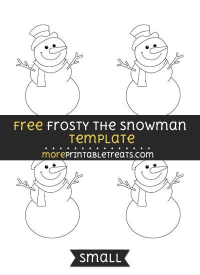 frosty  snowman template small frosty