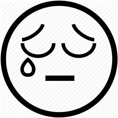 Sad Crying Face Smiley Tear Emoticon Icon