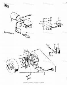 Kawasaki Motorcycle 1973 Oem Parts Diagram For Ignition