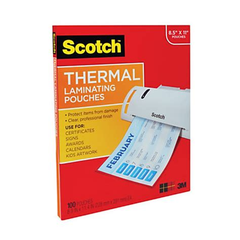 lamination office depot scotch thermal laminating pouches 8 78 x 11 38 pack of 100 by office depot officemax