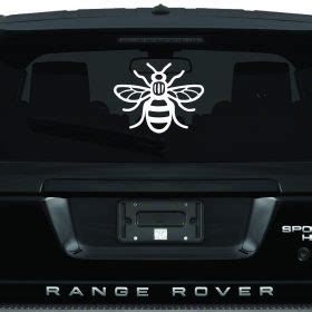 manchester bee car sticker  manchester bee car stickers
