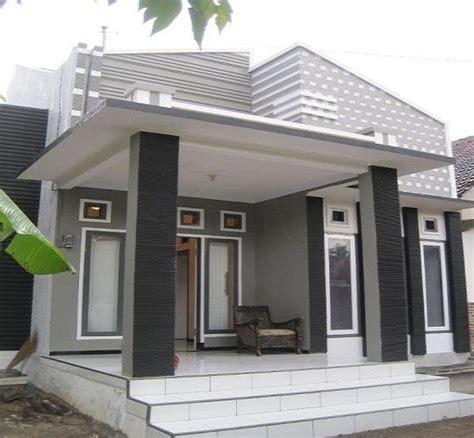kreatif mendesain model depan rumah sederhana