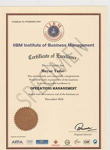 Template For A Certificate Specimen Certificate Iibm India