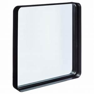 Miroir Metal Noir : miroir en m tal contemporain 39x38cm noir ~ Teatrodelosmanantiales.com Idées de Décoration