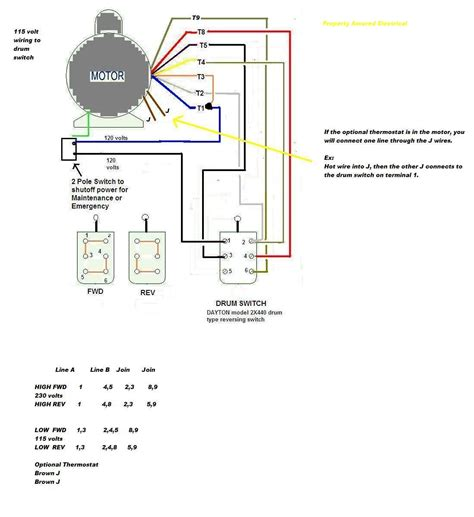 century ac motor wiring diagram 115 230 volts free