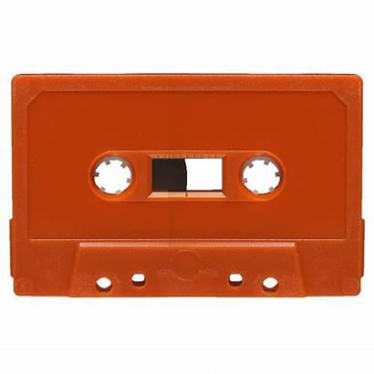 Cassette Tapes Audio Orange Blank Retro Cassettes