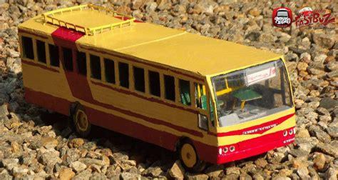 small model bus  cardboard ksrtc blog aanavandi blog