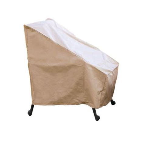hearth garden polyester high back patio chair cover with