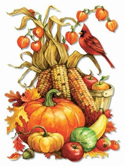 Thanksgiving Clip Fall Happy Autumn Painting Greetings
