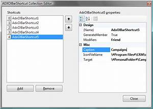 customize outlook navigation pane reading pane in c vb With outlook 2007 template shortcut