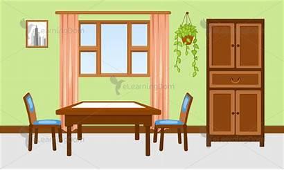 Living Dining Background Table Area Illustration Elearningdom
