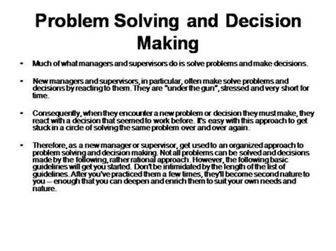 Problem Solving And Decision Skills Resume by Critical Thinking Problem Solving And Decision In Nursing