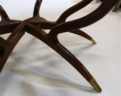 circular coffee table spider coffee table mid century modern collapsible