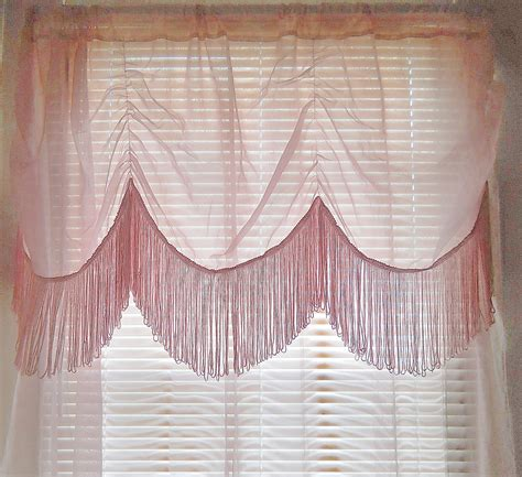 fringe curtain sheer pink curtain boho  thewelldressedwindow