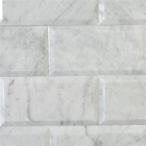 6 x 12 beveled subway tile new quot soho mosaic series quot bianco carrara marble 3 quot x6