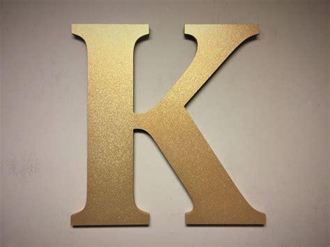 Letter D Home Decor : Gold Sparkel Letter K, Large Free Standing Monogram Letter
