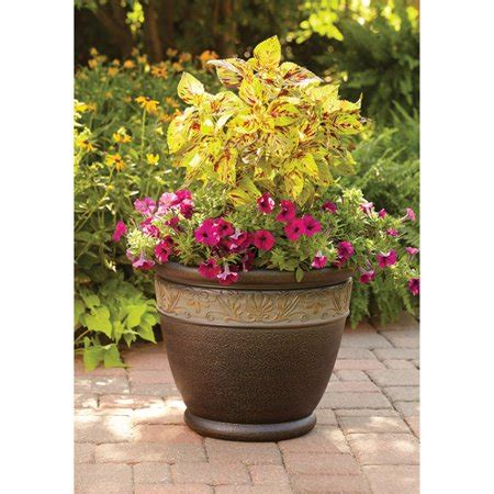 better homes and gardens planters quot better homes and gardens richmond 15 quot quot decorative outdoor