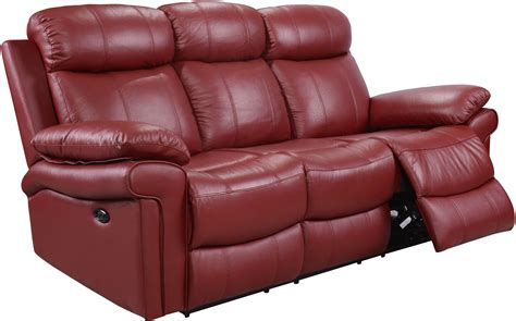 Shae Joplin Red Leather Power Reclining Sofa From Leather