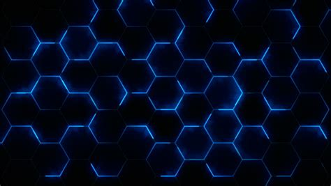 Futuristic Abstract Hexagonal Grid Background Stock