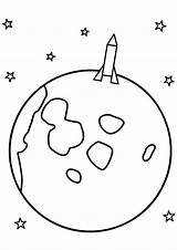 Coloring Solar System Pages Rocket Ship Moon Planet Printable Print Preschool Saturn Space Spaceship Bestcoloringpagesforkids Planets Sun Mars Uranus Moons sketch template
