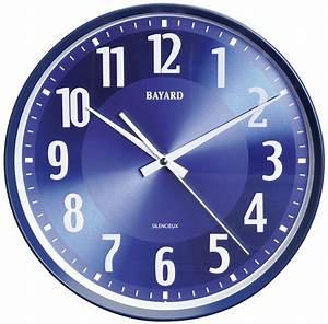Horloge Murale Silencieuse : horloge murale silencieuse bleue lectrique pendule ~ Melissatoandfro.com Idées de Décoration