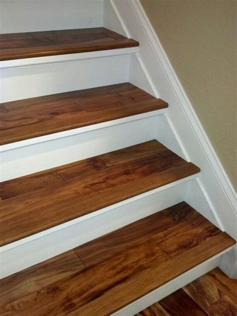 finished replaced  carpeted stairs   risers