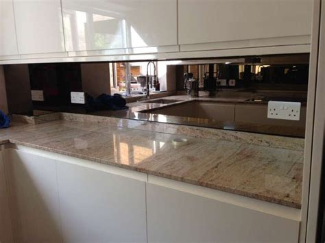 kitchen mirror backsplash bronze mirror splashback glass splashbacks