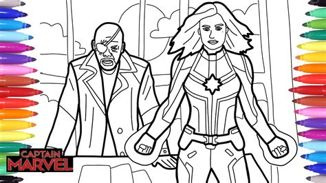 captain marvel coloring pages   draw captain marvel
