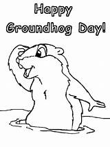 Coloring Pages Groundhog Groundhogs Ground Printable Sheet Printables Hogs Activities Printout Disney Preschoolers Happy Projects sketch template