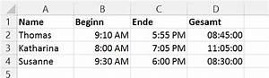 Zeiten Berechnen Excel : wie kann man in ms excel arbeitsstunden ber die zeit funktion berechnen ~ Themetempest.com Abrechnung