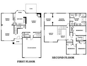 2 story home floor plans 5 bedroom house plans 2 story photos and