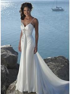 ivory v neck straps beaded satin beach destination wedding With beach dress for wedding