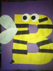Letter B. Bumble Bee Craft