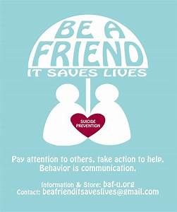 Suicide Prevention - Be a Friend - U
