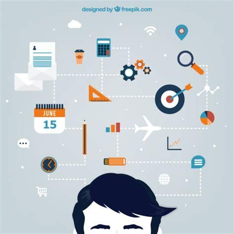 planung konzept infografik stil  der kostenlosen
