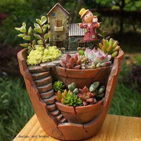 sky garden planter herb flower cactus succulent plant