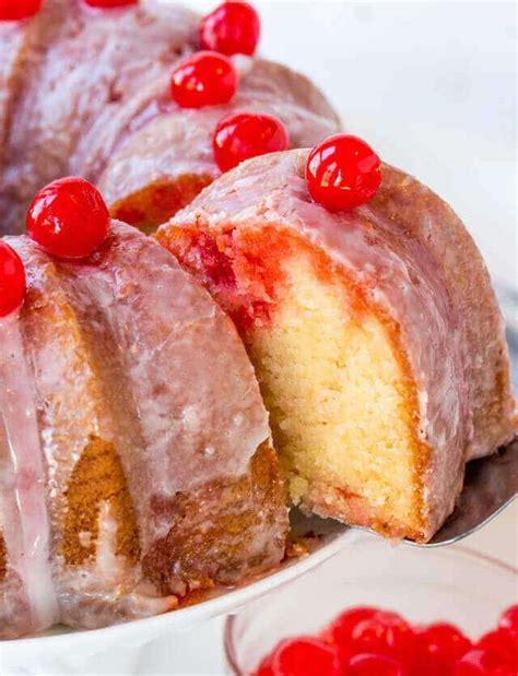 shirley temple cake easy bundt cake recipe  maraschino