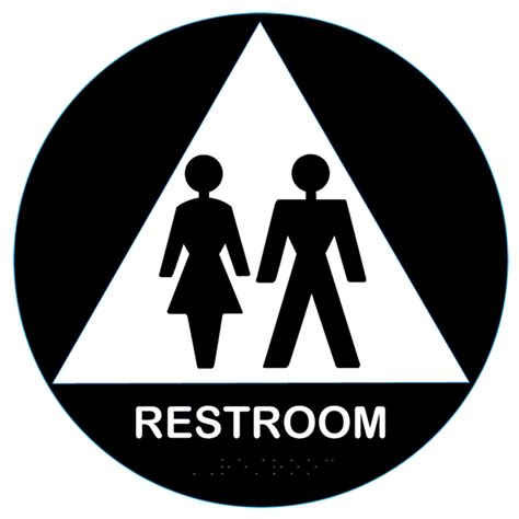 california approved raised unisex title   restroom