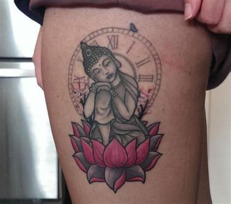 buddha sitting  lotus flower tattoo  dragon fx