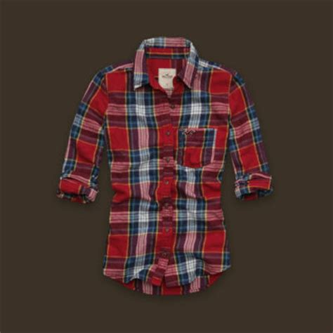 usaveiwin hollister womens red plaid flannel shirt  small nwt