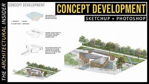Concept Diagram Architecture In Sketchup   Photoshop
