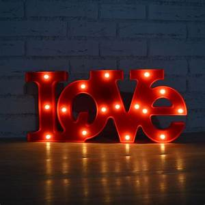 marquee letters light red 39love39 word led letter sign With red light up letters