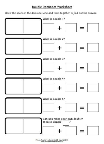 doubles to 10 worksheets ks1 primary toolbox