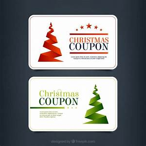 Christmas Discount Coupon Pack Vector   Free Download