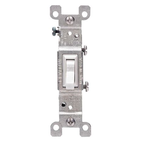 leviton 15 single pole switch white 10 pack m24